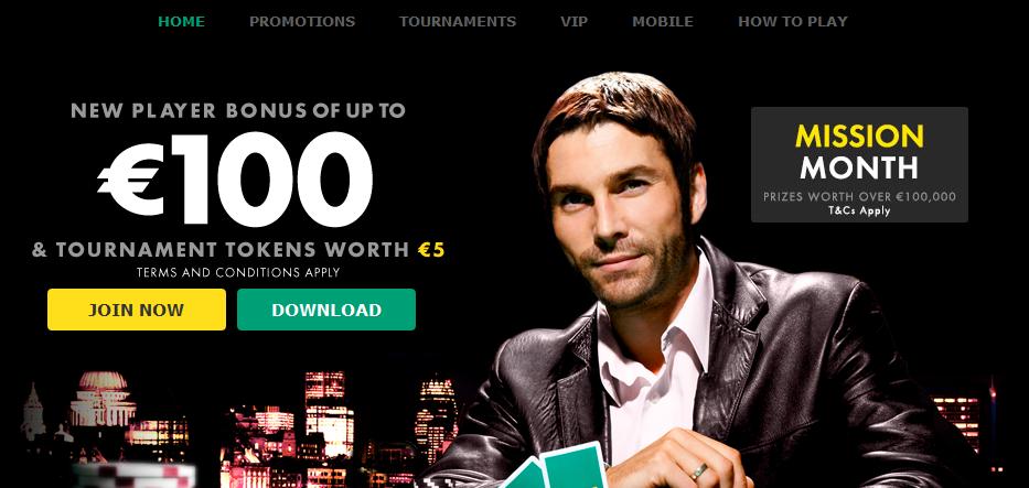 Kuvassa Bet365:n pokeri. Klikkaa kuvaa, niin se suurenee.