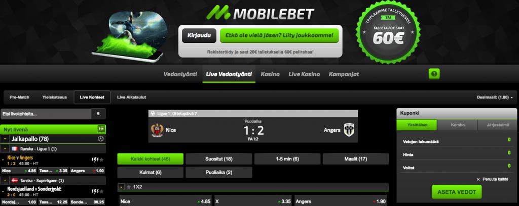 Mobilebet Livevedonlyönti