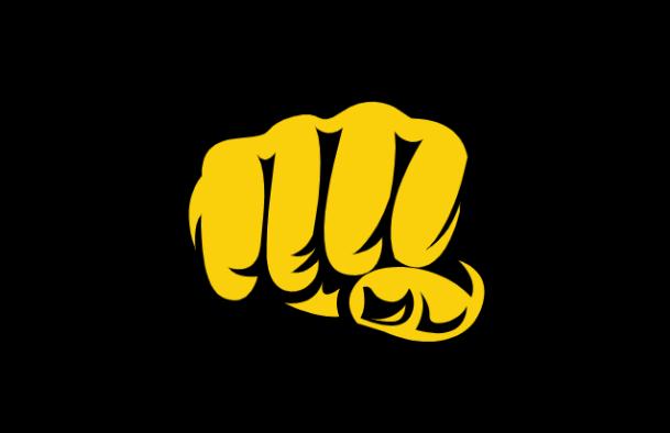 Bethardin logona toimii iskevä nyrkki.
